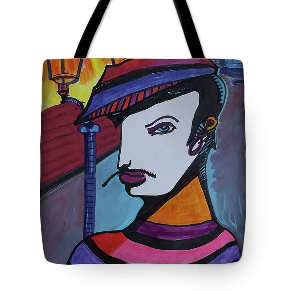 Midnight Mime Tote Bag