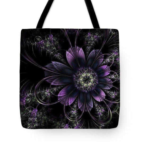 Midnight Mistletoe Tote Bag