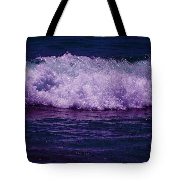 Midnight Ocean Wave In Ultra Violet Tote Bag