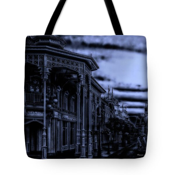 Midnight On Main Street Disney World Mp Tote Bag