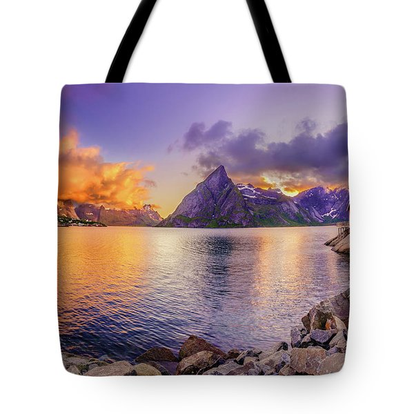 Tote Bag featuring the photograph Midnight Orange by Dmytro Korol