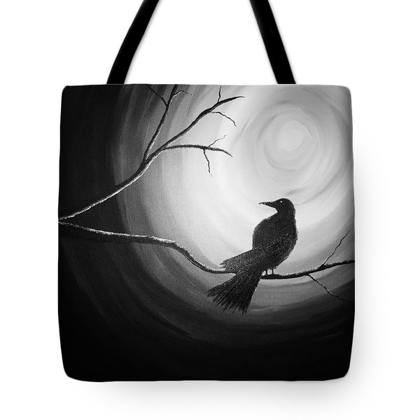 Midnight Raven Noir Tote Bag