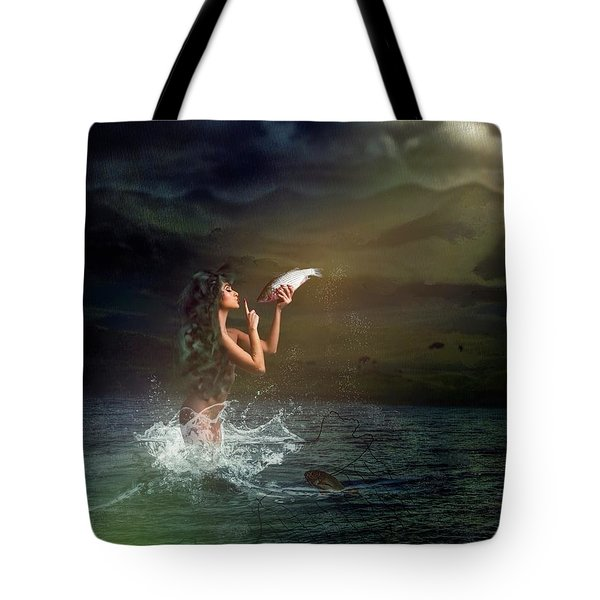Midnight Release Tote Bag