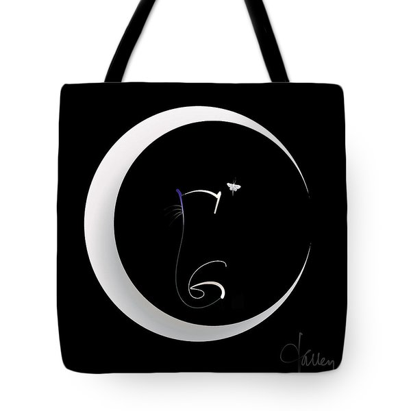 Tote Bag featuring the mixed media Moonlight Rendezvous 2 by Larry Talley