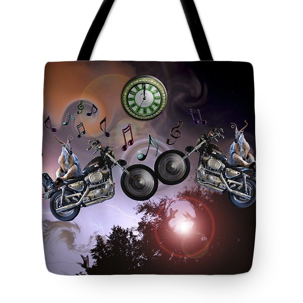 Tote Bag featuring the photograph Midnight Rider by Amanda Vouglas