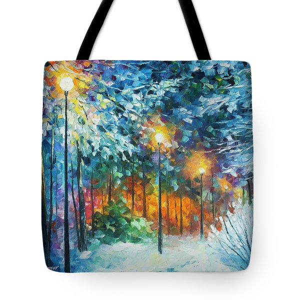 Midnight Snow Songs  Tote Bag by Leonid Afremov