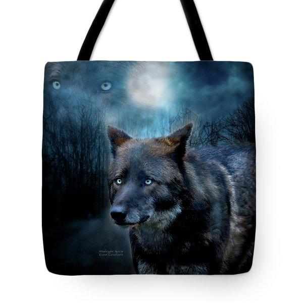 Midnight Spirit Tote Bag by Carol Cavalaris