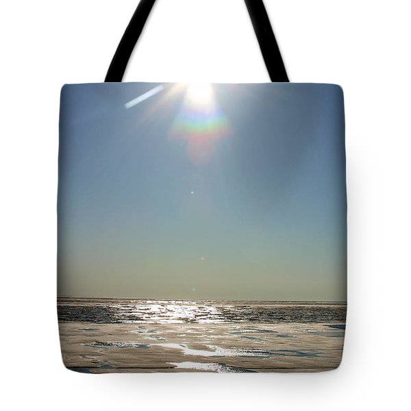 Midnight Sun Over The Arctic Tote Bag