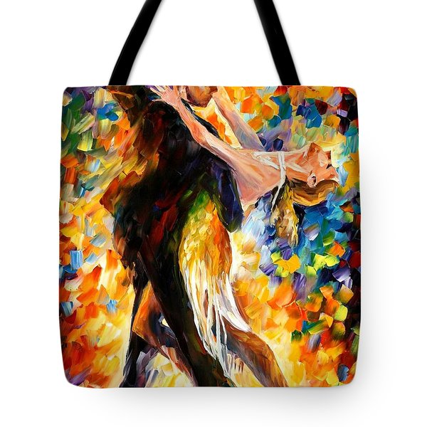Midnight Tango Tote Bag by Leonid Afremov