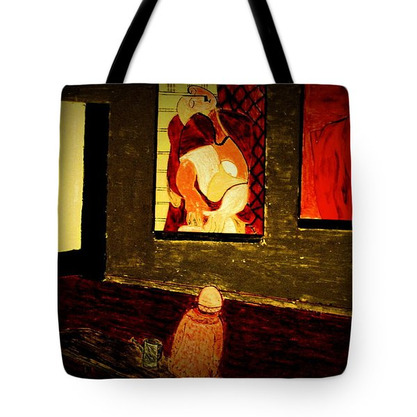 Tote Bag featuring the painting Midnight With Pablo by Bill OConnor
