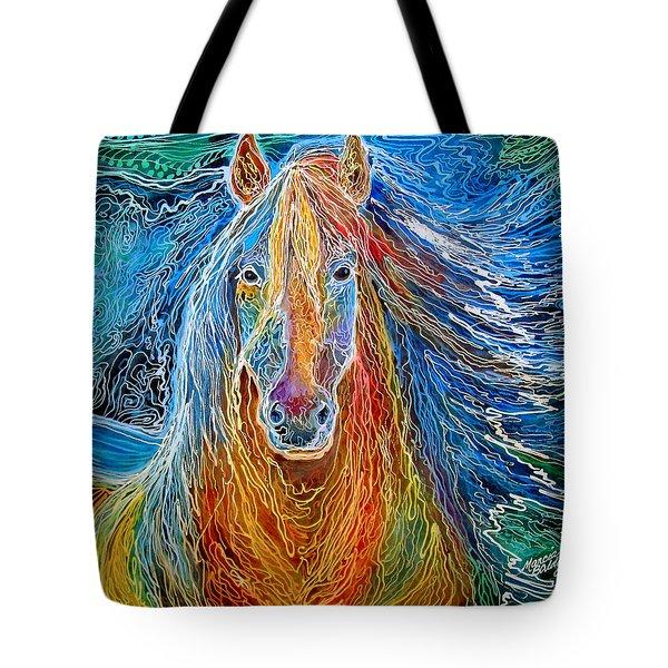 Midnightsun Equine Batik Tote Bag