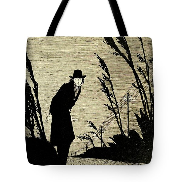 Midst Of All Was A Cold White Face Tote Bag