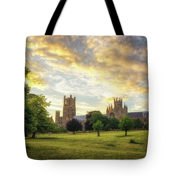 Midsummer Evening In Ely Tote Bag