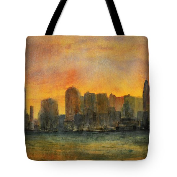 Midtown Morning Tote Bag