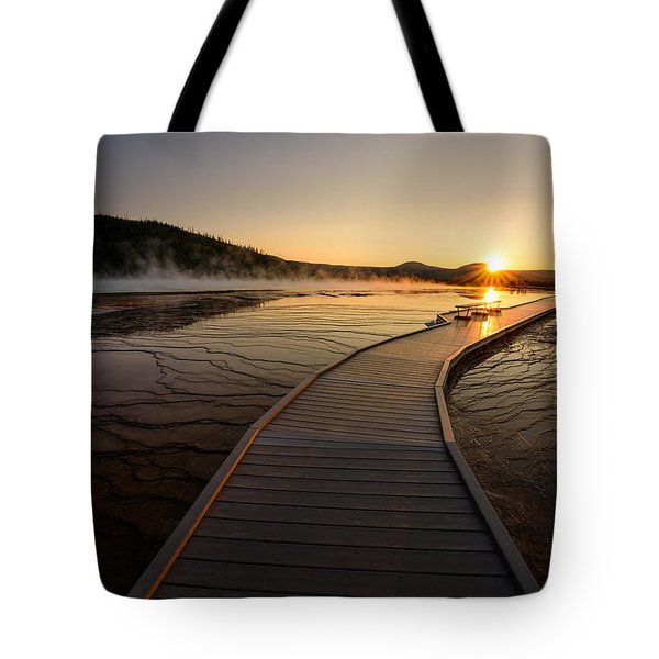 Midway Basin Sunset Tote Bag