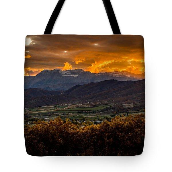 Midway Utah Sunset Tote Bag