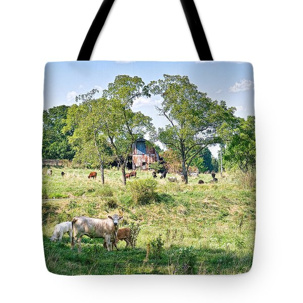 Midwest Cattle Ranch Tote Bag