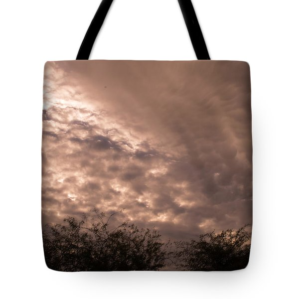 Tote Bag featuring the painting Midwest Skies II by Carolina Liechtenstein