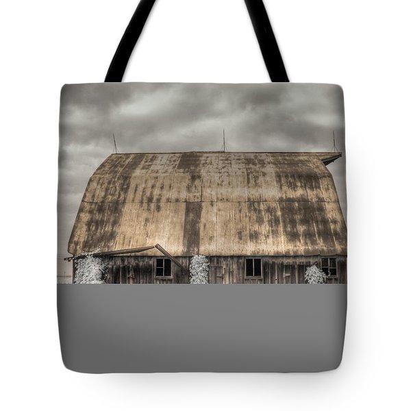 Midwestern Barn Tote Bag by Jane Linders