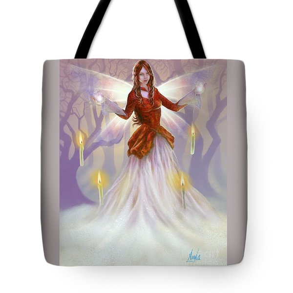 Tote Bag featuring the painting Midwinter Blessings by Amyla Silverflame