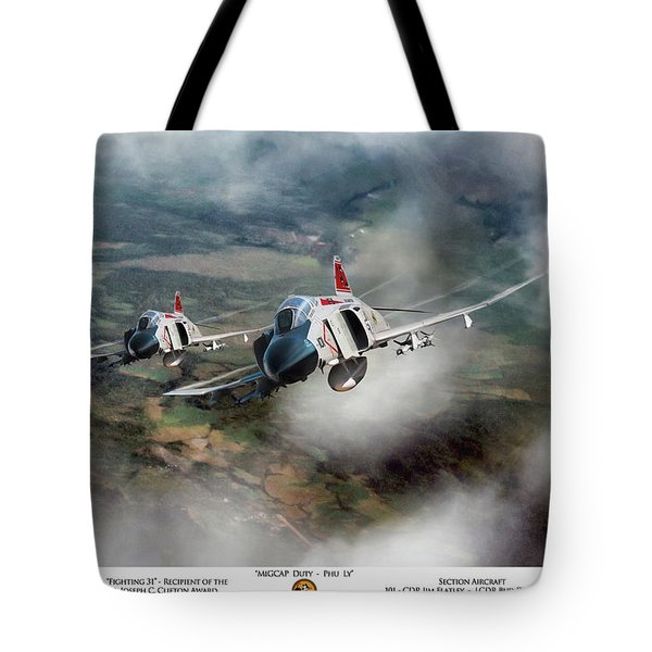 Tote Bag featuring the digital art Migcap Duty - Phu Ly by Peter Chilelli