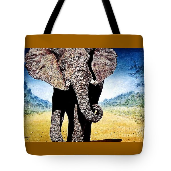 Mighty Elephant Tote Bag