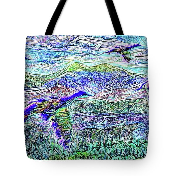 Migrate Beyond The Mountain Tote Bag by Joel Bruce Wallach