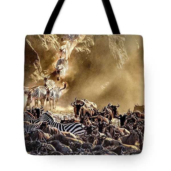 Migration Crossing Drama Tote Bag by Janis Knight