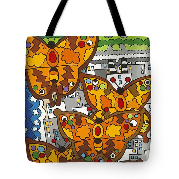 Migration Tote Bag by Rojax Art