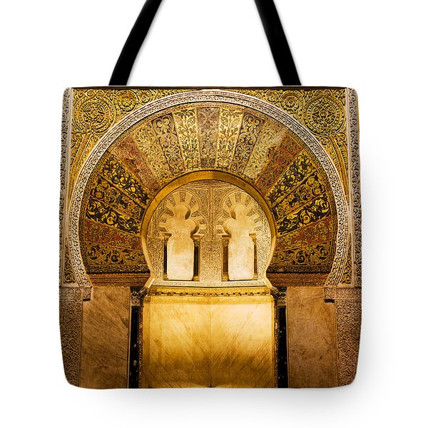 Mihrab In The Great Mosque Of Cordoba Tote Bag