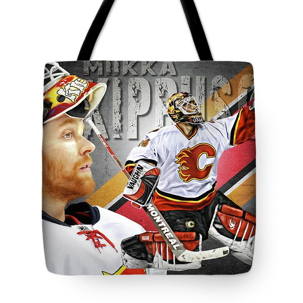 Tote Bag featuring the photograph Miikka Kiprusoff by Don Olea