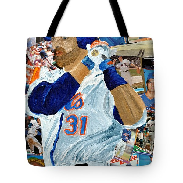 Mike Piazza Tote Bag by Michael Lee