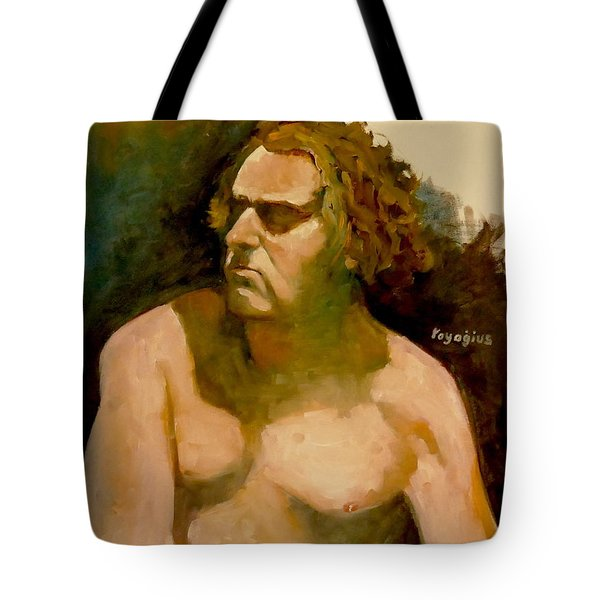 Mike. Tote Bag by Ray Agius