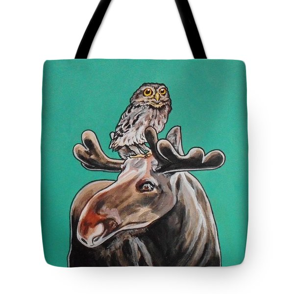 Mike The Moose Tote Bag