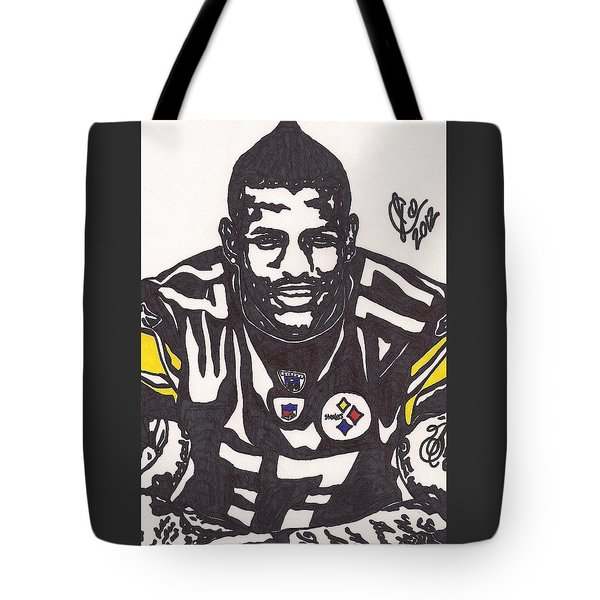 Tote Bag featuring the drawing Mike Wallace 1 by Jeremiah Colley