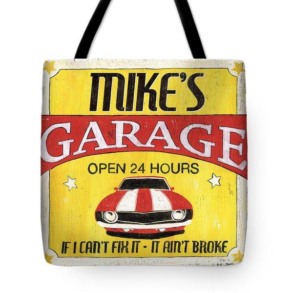 Mike's Garage Tote Bag