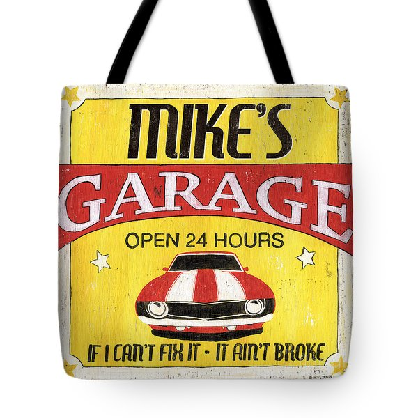 Mike's Garage Tote Bag