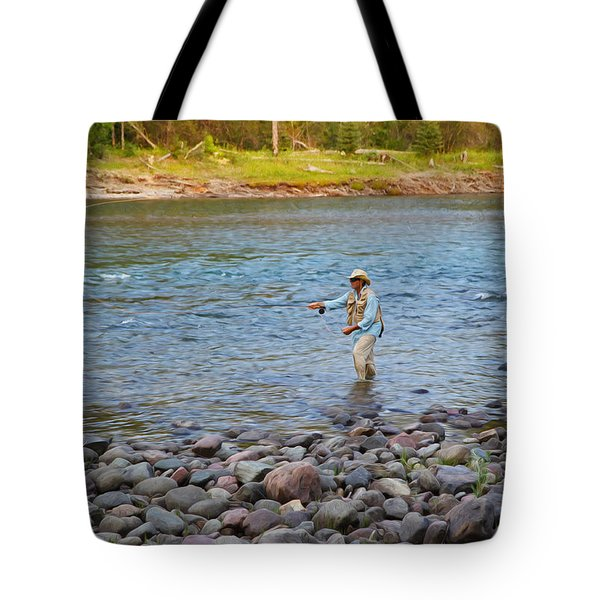 Mike's River-1 Tote Bag by Alex Suescun