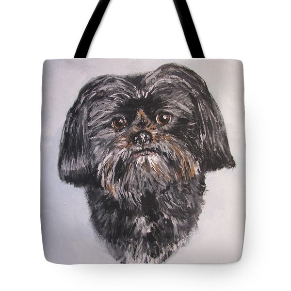Tote Bag featuring the painting Mikey by Jack Skinner