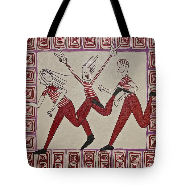 Tote Bag featuring the painting Mikey Just Likes To Participate by Donna Howard