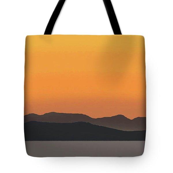 Mykonos Sunset Tote Bag