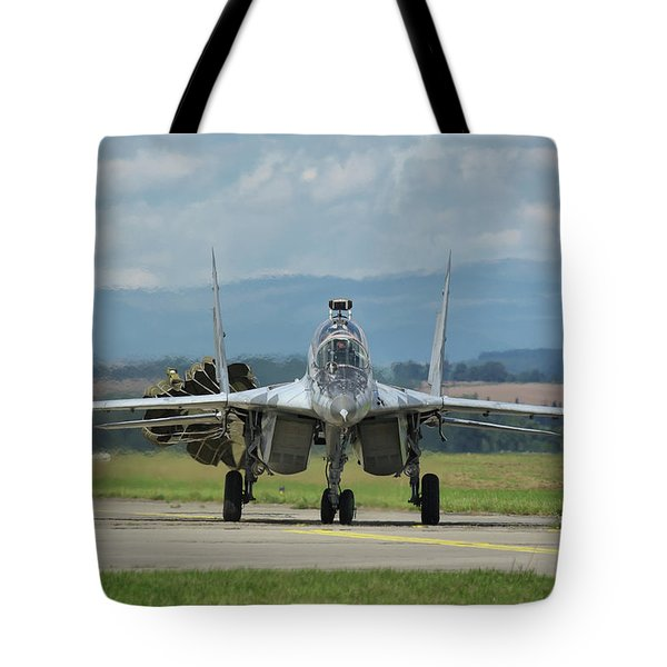 Mikoyan-gurevich Mig-29ubs Tote Bag by Tim Beach