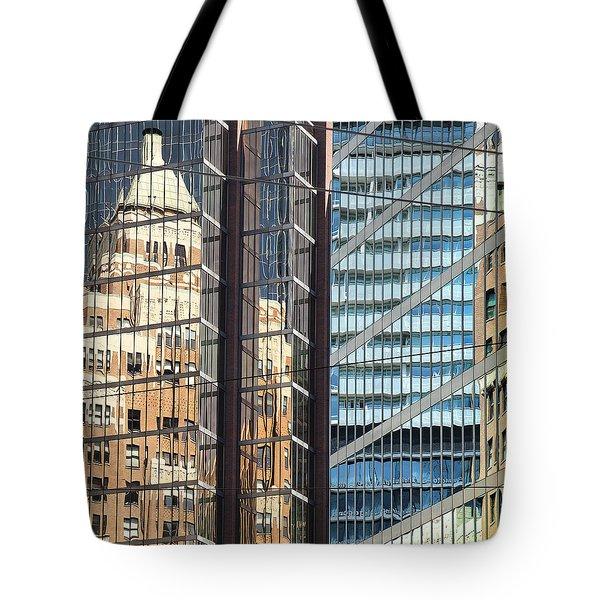 Tote Bag featuring the photograph Miksang 10 Reflect by Theresa Tahara