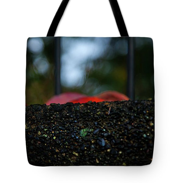 Tote Bag featuring the photograph Miksang 2 Autumn Rain City by Theresa Tahara