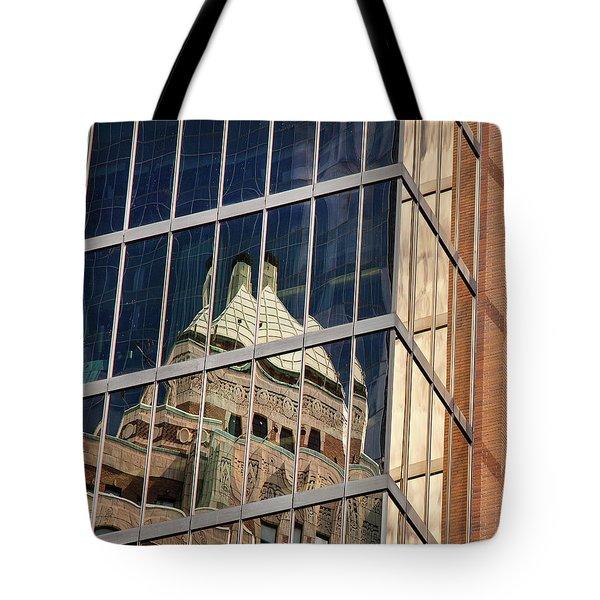 Tote Bag featuring the photograph Miksang 9 City by Theresa Tahara