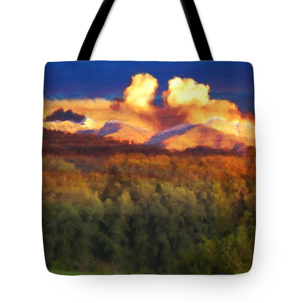 Milagro Cloud Theater Over Truchas Peaks Nm Tote Bag