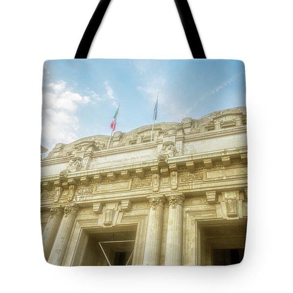 Milan Italy Train Station Facade Tote Bag