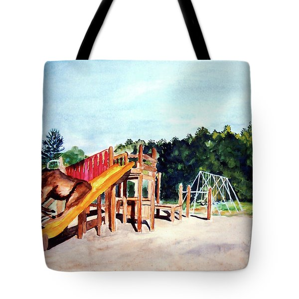 Mildred Goes Down The Slide Tote Bag