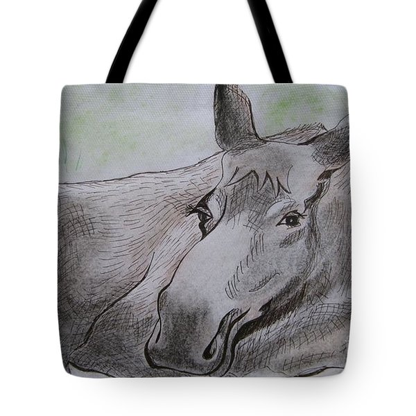 Mildred The Moose Resting Tote Bag
