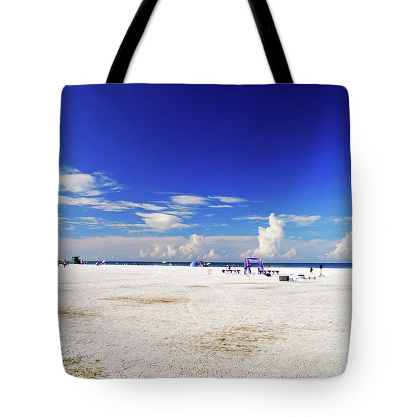 Tote Bag featuring the photograph Miles And Miles Of White Sand by Gary Wonning